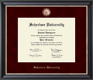 Schreiner University Diploma Frame - Regal Edition Diploma Frame in Noir
