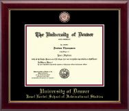 University of Denver Diploma Frame - Masterpiece Medallion Diploma Frame in Gallery