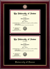 University of Denver Diploma Frame - Masterpiece Medallion Double Diploma Frame in Gallery