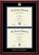 American University Diploma Frame - Masterpiece Medallion Double Diploma Frame in Gallery