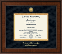 Auburn University Montgomery Diploma Frame - Presidential Gold Engraved Diploma Frame in Madison