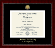 Auburn University Montgomery Diploma Frame - Gold Engraved Medallion Diploma Frame in Sutton