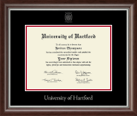 University of Hartford Diploma Frame - Silver Embossed Diploma Frame in Devonshire