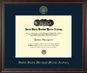 United States Merchant Marine Academy Diploma Frame - Gold Embossed Diploma Frame in Studio