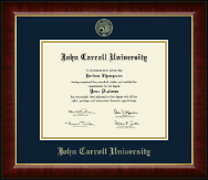 John Carroll University Diploma Frame - Gold Embossed Diploma Frame in Murano