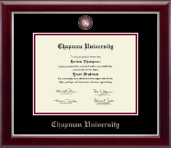 Chapman University Diploma Frame - Masterpiece Medallion Diploma Frame in Gallery Silver