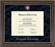 Chapman University Diploma Frame - Regal Edition Diploma Frame in Chateau