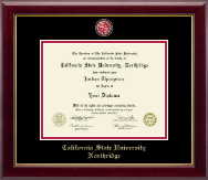 California State University Northridge Diploma Frame - Masterpiece Medallion Diploma Frame in Gallery