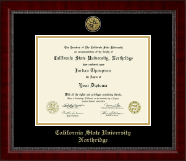 California State University Northridge Diploma Frame - Gold Engraved Medallion Diploma Frame in Sutton