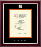 Pitzer College Diploma Frame - Masterpiece Medallion Diploma Frame in Gallery Silver