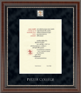 Pitzer College Diploma Frame - Regal Edition Diploma Frame in Chateau