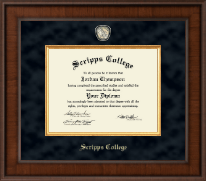 Scripps College Diploma Frame - Presidential Masterpiece Diploma Frame in Madison