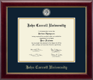 John Carroll University Diploma Frame - Masterpiece Medallion Diploma Frame in Gallery