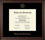 Valparaiso University Diploma Frame - Gold Embossed Diploma Frame in Studio