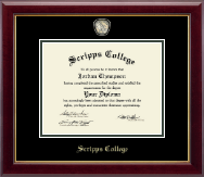 Scripps College Diploma Frame - Masterpiece Medallion Diploma Frame in Gallery
