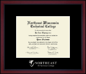 Northeast Wisconsin Technical College Diploma Frame - Silver Embossed Achievement Edition Diploma Frame in Academy