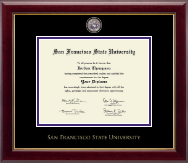 San Francisco State University Diploma Frame - Masterpiece Medallion Diploma Frame in Gallery