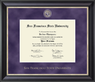 San Francisco State University Diploma Frame - Regal Edition Diploma Frame in Noir