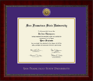 San Francisco State University Diploma Frame - Gold Engraved Medallion Diploma Frame in Sutton