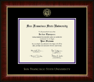 San Francisco State University Diploma Frame - Gold Embossed Diploma Frame in Murano