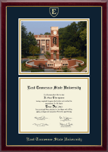 East Tennessee  State University Diploma Frame - Campus Scene Diploma Frame in Gallery