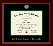 Point Loma Nazarene University Diploma Frame - Gold Engraved Medallion Diploma Frame in Sutton