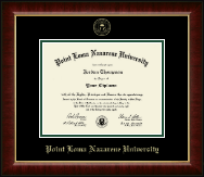 Point Loma Nazarene University Diploma Frame - Gold Embossed Diploma Frame in Murano