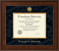 Transylvania University Diploma Frame - Presidential Gold Engraved Diploma Frame in Madison