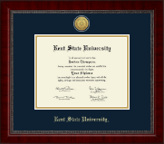 Kent State University Diploma Frame - Gold Engraved Medallion Diploma Frame in Sutton