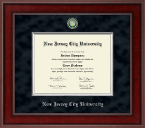 New Jersey City University Diploma Frame - Presidential Masterpiece Diploma Frame in Jefferson