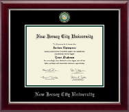 New Jersey City University Diploma Frame - Masterpiece Medallion Diploma Frame in Gallery Silver
