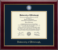 University of Pittsburgh Diploma Frame - Masterpiece Medallion Diploma Frame in Gallery