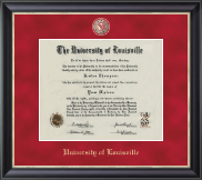 University of Louisville Diploma Frame - Regal Edition Diploma Frame in Noir