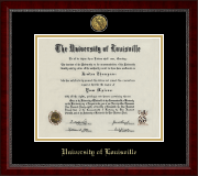University of Louisville Diploma Frame - Gold Engraved Medallion Diploma Frame in Sutton