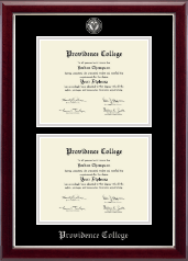 Providence College Diploma Frame - Masterpiece Medallion Double Diploma Frame in Gallery Silver
