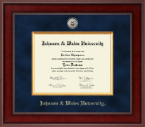 Johnson & Wales University in Rhode Island Diploma Frame - Presidential Masterpiece Diploma Frame in Jefferson