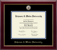 Johnson & Wales University in Rhode Island Diploma Frame - Masterpiece Medallion Diploma Frame in Gallery