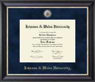 Johnson & Wales University in Rhode Island Diploma Frame - Regal Edition Diploma Frame in Midnight
