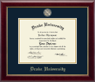 Drake University Diploma Frame - Masterpiece Medallion Diploma Frame in Gallery