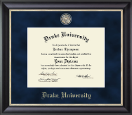 Drake University Diploma Frame - Regal Edition Diploma Frame in Noir