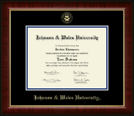 Johnson & Wales University in Rhode Island Diploma Frame - Gold Embossed Diploma Frame in Murano