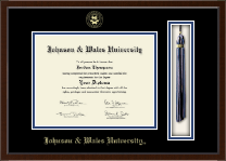 Johnson & Wales University in Rhode Island Diploma Frame - Tassel Edition Diploma Frame in Omega