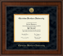Christian Brothers University Diploma Frame - Presidential Gold Engraved Diploma Frame in Madison