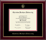 Christian Brothers University Diploma Frame - Gold Embossed Diploma Frame in Gallery