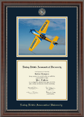 Embry-Riddle Aeronautical University Diploma Frame - Campus Scene Masterpiece Medallion Diploma Frame in Chateau