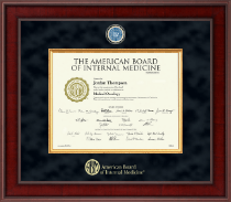 American Board of Internal Medicine Certificate Frame - Presidential Masterpiece Certificate Frame in Jefferson