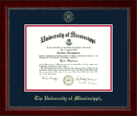 The University of Mississippi Diploma Frame - Gold Embossed Diploma Frame in Sutton