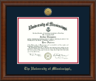 The University of Mississippi Diploma Frame - Gold Engraved Medallion Diploma Frame in Austin