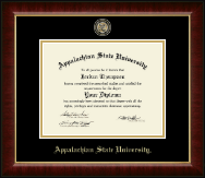 Appalachian State University Diploma Frame - Masterpiece Medallion Diploma Frame in Murano