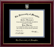 The University of Memphis Diploma Frame - Masterpiece Medallion Diploma Frame in Gallery